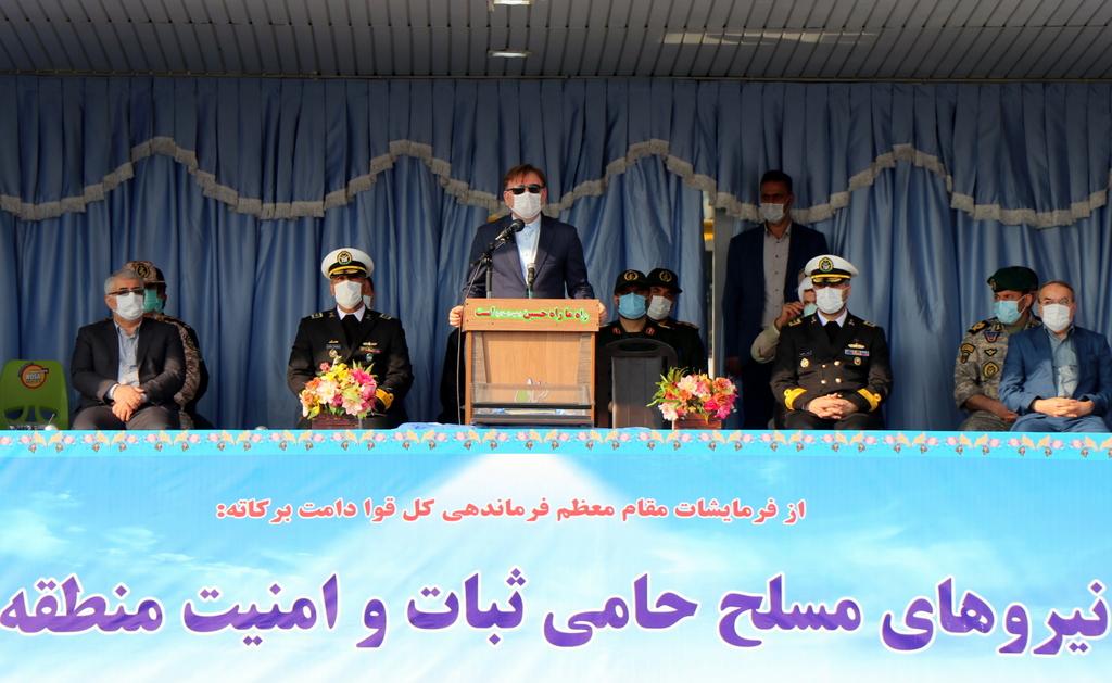 مراسم گرامیداشت روز ارتش در مرکز آموزش تخصصهای دریایی باقرالعلوم (ع) رشت با حضور استاندار