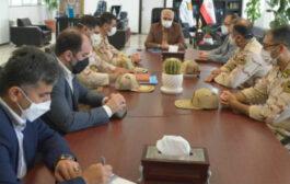 دیدار فرمانده دریابانی بندرانزلی با مدیرعامل سازمان منطقه آزاد انزلی